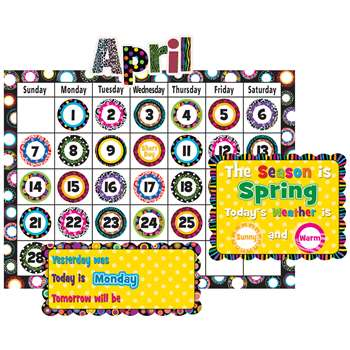 Fancy Circles Calendar Bulletin Board Set By Teacher Created Resources