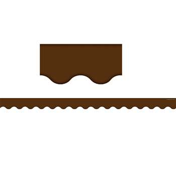 Chocolate Scalloped Border Trim Solid By Teacher Created Resources