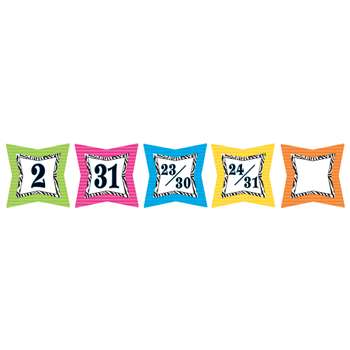 Colorful Zebra Print Calendar Days By Teacher Created Resources