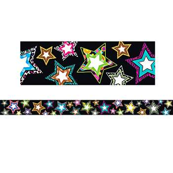 Fancy Stars Straight Border Trim By Teacher Created Resources