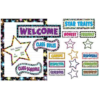 Fancy Stars Bulletin Board By Teacher Created Resources