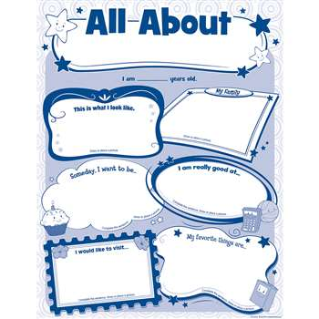 All About Me Posters By Teacher Created Resources