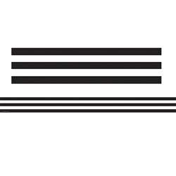 Black And White Stripes Straight Border Trim By Teacher Created Resources