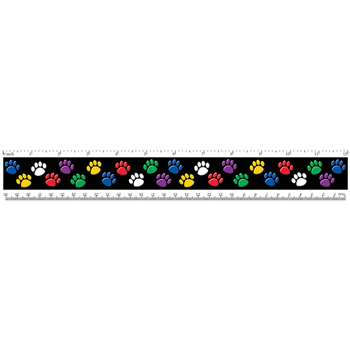 Rulers Colorful Paw Prints By Teacher Created Resources
