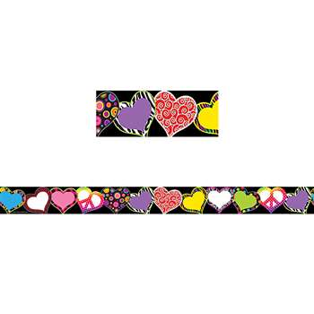 Fancy Hearts Border Trim By Teacher Created Resources