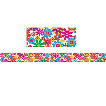 Fun Flowers Straight Border Trim By Teacher Created Resources