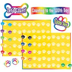 Paw Prints Counting To 100 Bulletin Board Set By Teacher Created Resources