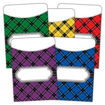 Plaid Library Pockets Multi Pack, TCR5332