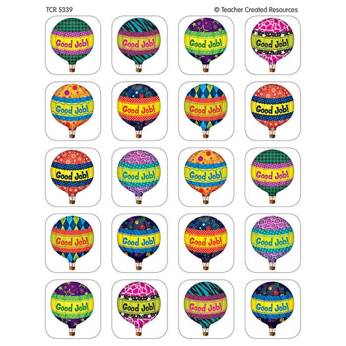 Hot Air Balloons Stickers By Teacher Created Resources