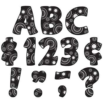 Crazy Circles Funtastic Font 4In Letters Uppercase Pack By Teacher Created Resources