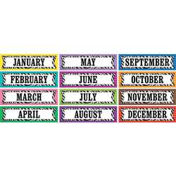 Colorful Zebra Stripes Monthly Head Liners By Teacher Created Resources