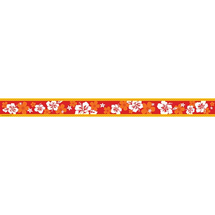 Red Hibiscus Straight Border Trim By Teacher Created Resources