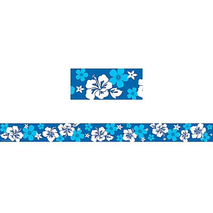 Blue Hibiscus Straight Border Trim By Teacher Created Resources