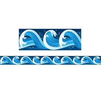 Ocean Waves Straight Border Trim By Teacher Created Resources