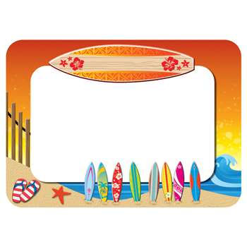 Surfs Up Name Tags Labels By Teacher Created Resources