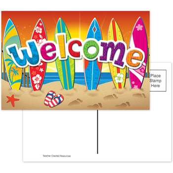 Surfs Up Welcome Postcards By Teacher Created Resources