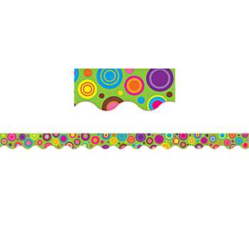 Lime Colorful Circles Scalloped Border Trim By Teacher Created Resources