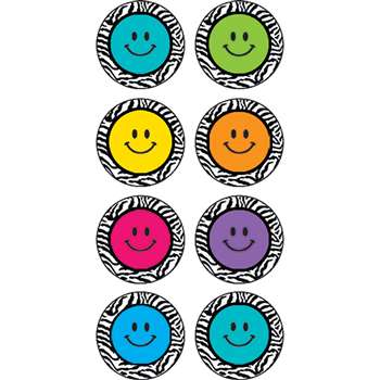 Zebra Happy Faces Mini Stickers By Teacher Created Resources