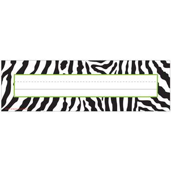 Zebra Name Plates By Teacher Created Resources