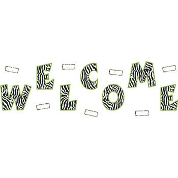 Shop Zebra Welcome Bulletin Board - Tcr5411 By Teacher Created Resources