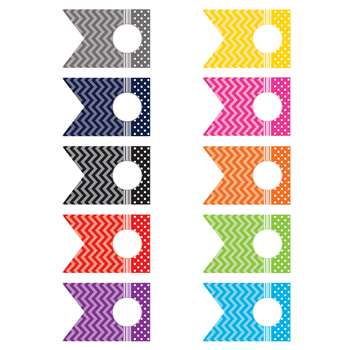 Shop Chevrons And Dots Pennants Accents - Tcr5418 By Teacher Created Resources