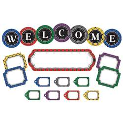 Plaid Welcome Mini Bulletin Board Set, TCR5437