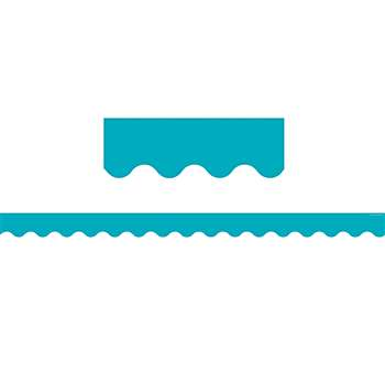 Teal Solid Scalloped Border Trim, TCR5450