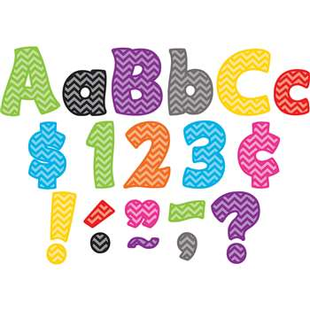 Shop Chevron Funtastic 4In Letters Combo Pack - Tcr5454 By Teacher Created Resources