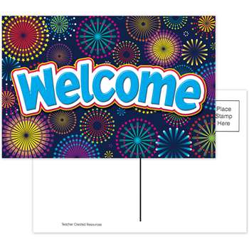 Fireworks Welcome Postcards, TCR5460