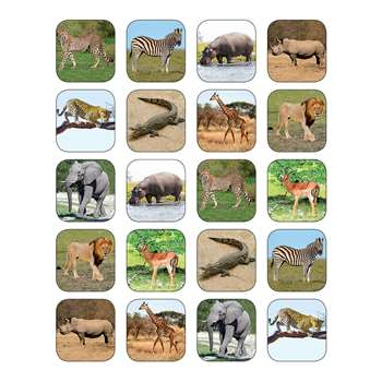 Shop Safari Animals Stickers - Tcr5468 By Teacher Created Resources