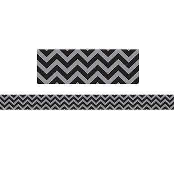 Shop Black Chevron Straight Border Trim - Tcr5472 By Teacher Created Resources