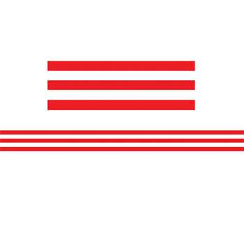 Shop Red & White Stripes Straight Border Trim - Tcr5489 By Teacher Created Resources