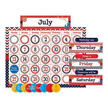 Nautical Calendar Bulletin Board Set, TCR5492