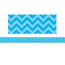 Shop Aqua Chevron Straight Border Trim - Tcr5508 By Teacher Created Resources