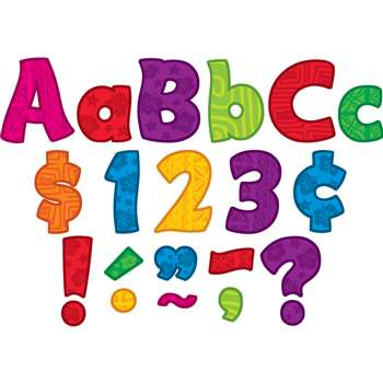 "Surfs Up Funtastic 4"" Letters Combo Pack, TCR5518"