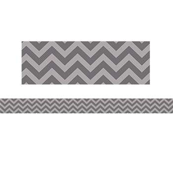 Shop Gray Chevron Straight Border Trim - Tcr5520 By Teacher Created Resources