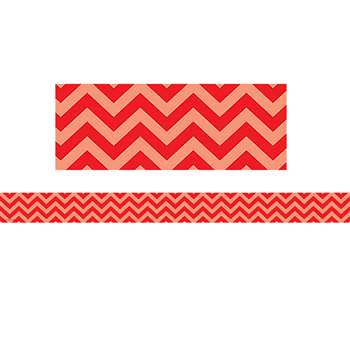 Shop Red Chevron Straight Border Trim - Tcr5522 By Teacher Created Resources