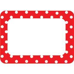 Shop Red Polka Dots 2 Name Tags - Tcr5539 By Teacher Created Resources