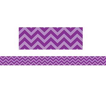 Shop Purple Chevron Straight Border Trim - Tcr5540 By Teacher Created Resources