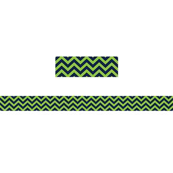 Shop Navy & Lime Chevron Straight Border Trim - Tcr5542 By Teacher Created Resources