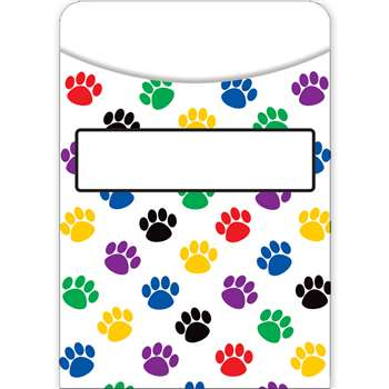 Paw Prints Library Pockets, TCR5550