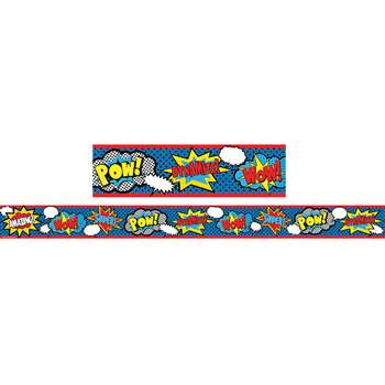 Superhero Straight Border Trim, TCR5586