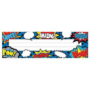 Superhero Flat Name Plates, TCR5588