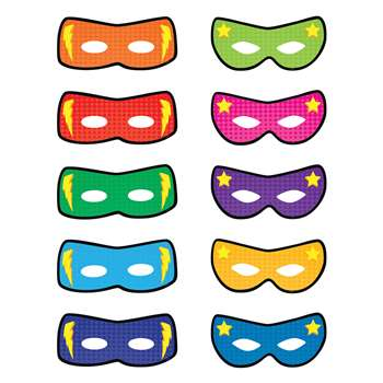 Superhero Masks Accents, TCR5591