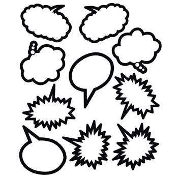 Superhero Black & White Speech Thought Bubbles Acc, TCR5592