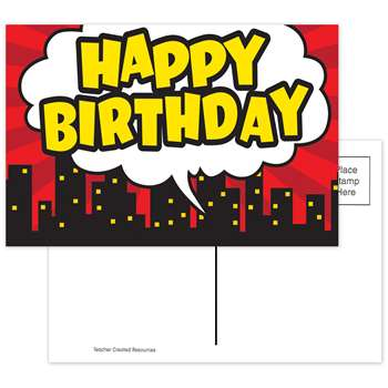 Superhero Happy Birthday Postcard, TCR5605
