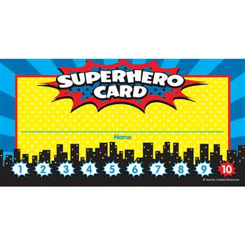 Superhero Punch Cards, TCR5607
