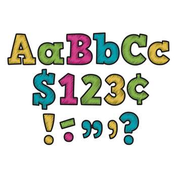"Chalkboard Brights Bold Block 4"" Letters Combo Pa, TCR5617"