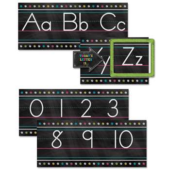 Chalkboard Brights Alphabet Line Bb Set, TCR5621