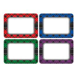 Plaid Name Tags Labels Multi Pack, TCR5665